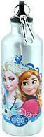 Алюминиевая бутылка с героями мультфильмов и карабином 8003-500PP (серебряная) (3_1221)