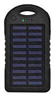 Внешний акумулятор Power bank UKC PB-263 10000 mAh с солнечной панелью и фонариком Черный (3_7405), фото 1