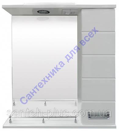 Зеркало для ванной комнаты с пеналом и подсветко Лада-55, фото 2