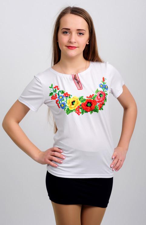 Запвдный мак ― вышитая футболка
