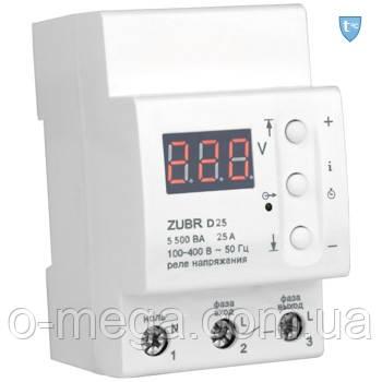 Реле контроля напряжения ZUBR D25t с термозащитой
