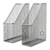"IKEA ""ДОКУМЕНТ"" Подставка для журналов, 2 шт, серый"