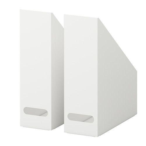"""IKEA """"КВИССЛЕ"""" Подставка для журналов, 2 шт, белый"""