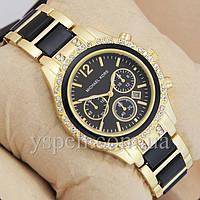 Женские Часы Michael Kors crystal Gold-black