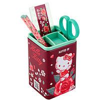 Стакан для ручек KITE мод 214 с 4 предметами Hello Kitty HK19-214