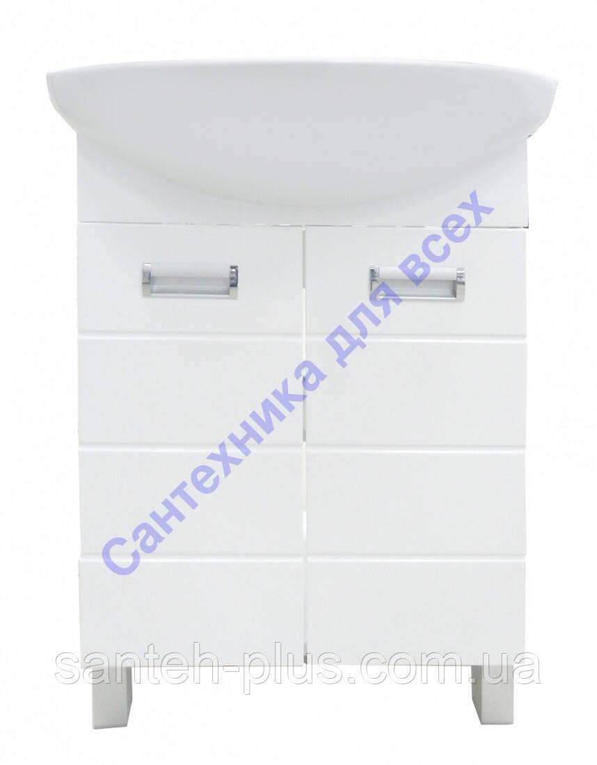 Тумба для ванной комнаты Лада Т1 с умывальником Солос-56