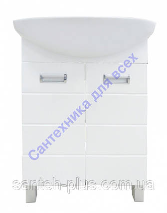 Тумба для ванной комнаты Лада Т1 с умывальником Солос-56, фото 2