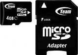 MicroSDHC 4GB Team Class 10 + SD adapter (TUSDH4GCL1003), фото 2
