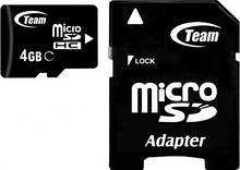MicroSDHC 4GB Team Class 4 + SD adapter (TUSDH4GCL403)