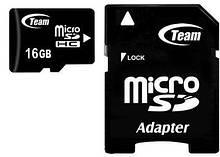 MicroSDHC 16GB Team Class 10 + SD adapter (TUSDH16GCL1003)