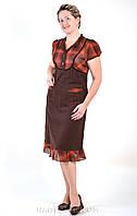 Платье женское льняное, по колено, ПЛ 001-3