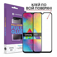 Защитное стекло MakeFuture для Samsung Galaxy M20 SM-M205 Black Full Glue, 0.33 mm (MGF-SM205)