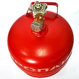 Баллон газовый 5л с вентилем ВБ-2, фото 3
