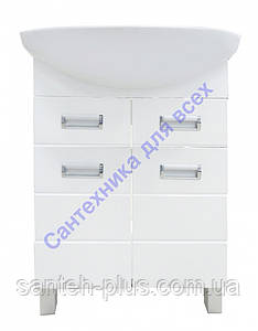 Тумба для ванной комнаты  с ящиком Лада Т5 с умывальником Солос-56