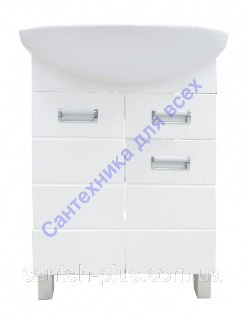 Тумба для ванной комнаты Лада Т3 с умывальником Либра-60( церсанит)