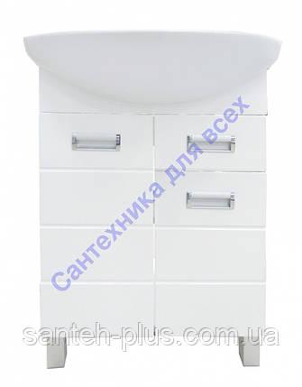 Тумба для ванной комнаты Лада Т3 с умывальником Либра-60( церсанит), фото 2