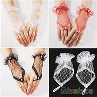 Перчатки кружевные разные цвета