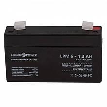 Аккумуляторная батарея LogicPower LPM 6V 1.3AH (LPM 6 - 1.3 AH) AGM