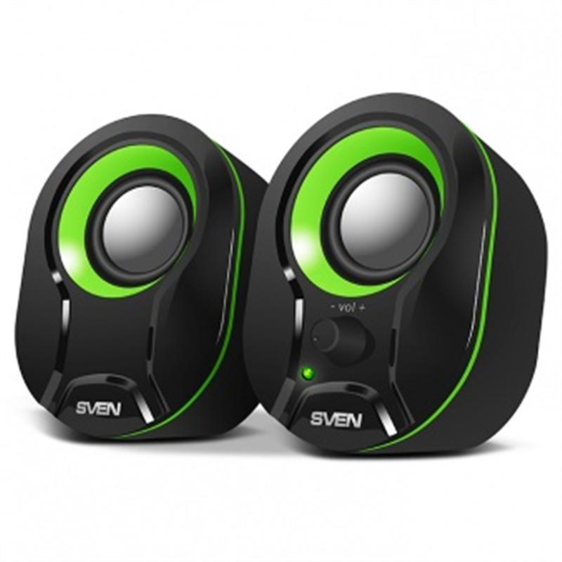 Акустическая система Sven 290 Black/Green UAH