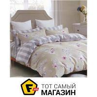 Комплект постельного белья семейный 143x215 см хлопок, полиэстер бежевый Руно 6.114Г 50x70см, семейный (3003А+В)