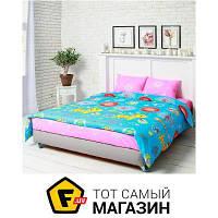 Комплект постельного белья двуспальный 175x215 см хлопок голубой, розовый Руно 655.116 Yellow cat 50x70см, двуспальный
