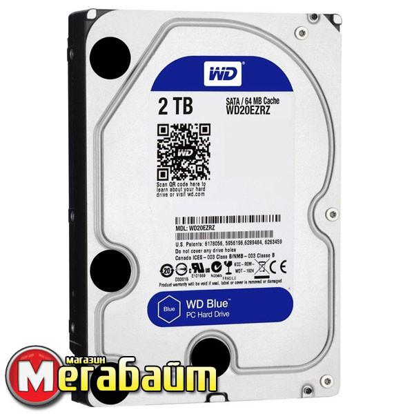 Жесткий диск Western Digital 2.0TB WD Blue 5400rpm 64MB SATA (WD20EZRZ)