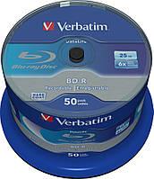 BD-R SL Verbatim (43838) 25GB 6x Datalife, 50шт Spindle