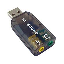 Звуковая карта Dynamode USB 6(5.1) каналов 3D RTL Black (39623)