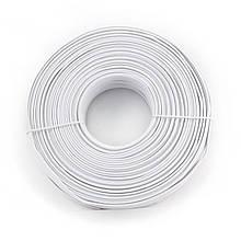 Кабель телефонний Cablexpert TC1000S-100М , 4 пари, плоский, литий, 100м білий колір