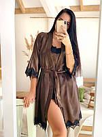 Атласный набор (пижама + халат)