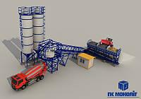 Бетонный завод производительностью 30 М3/Ч (конвейер)