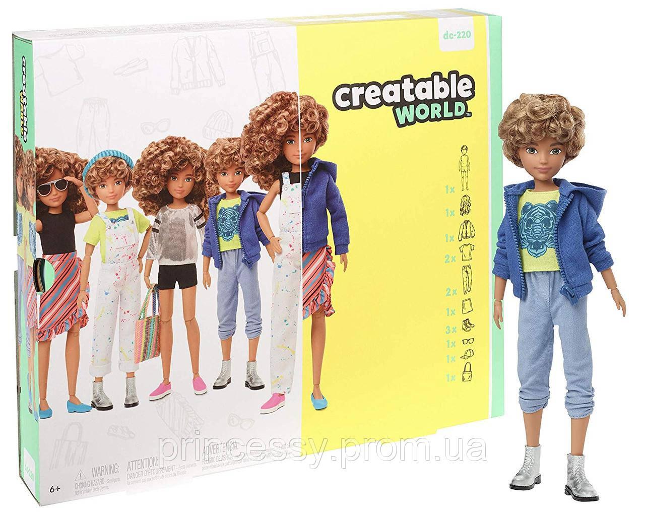 Кукла Creatable World Творимый Мир Deluxe светлые кудрявые волосы