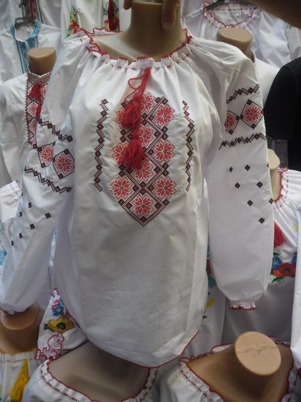 Вышитая женская футболка р.48-56