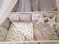 Детское постельное бельё в кроватку ТМ Bonna Перфект Светло-Серое