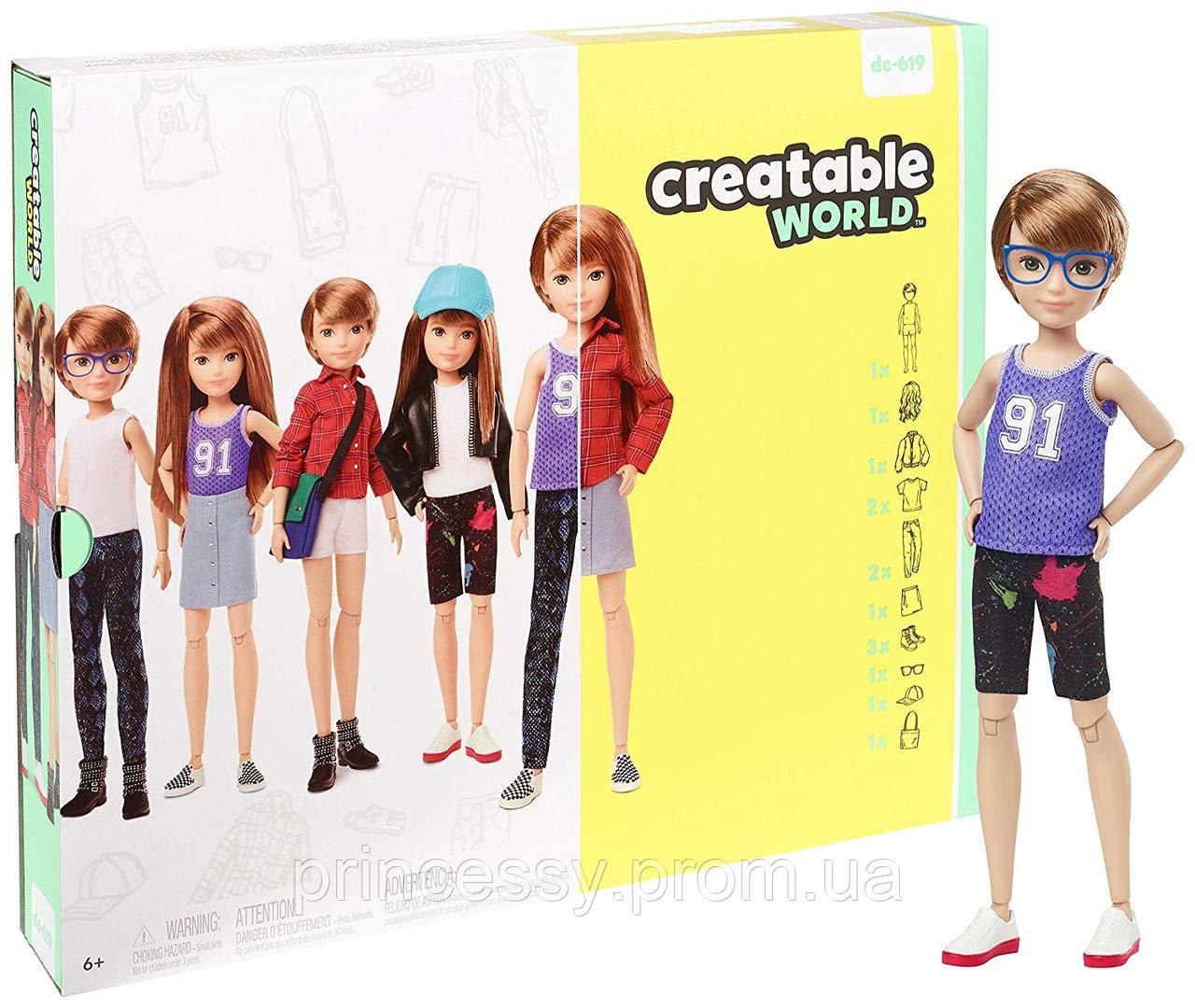 Кукла Creatable World Творимый Мир Deluxe медные прямые волосы