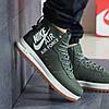 Кроссовки мужские Nike 8447 темно зеленые