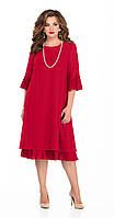 Платье TEZA-250 белорусский трикотаж, красный, 44