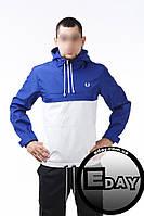 Сине-белая куртка ветровка анорак Fred Perry есть опт, фото 1