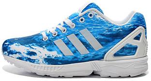 Женские Кроссовки Adidas Zx Flux Ocean в голубом цвете