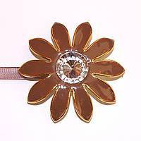 Декоративный магнит для штор и тюлей на ленточке  F010