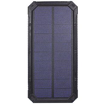 ✸Внешний аккумулятор Solar 20000 mAh Black для смартфона LED фонарик солнечная батарея повер банк