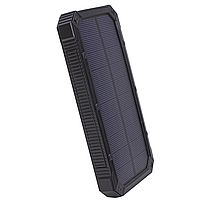 ✸Внешний аккумулятор Solar 20000 mAh Black для смартфона LED фонарик солнечная батарея повер банк, фото 3