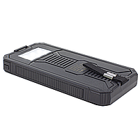 ✸Внешний аккумулятор Solar 20000 mAh Black для смартфона LED фонарик солнечная батарея повер банк, фото 4