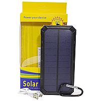 ✸Внешний аккумулятор Solar 20000 mAh Black для смартфона LED фонарик солнечная батарея повер банк, фото 6