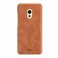 Накладка для Meizu M5 Note шкірзам Mofi Heart Series Коричневий