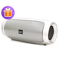 ◯Колонка LZ Charge 4 Silver беспроводная стерео 10 Вт музыкальная акустика в дорогу для подростков павер банк