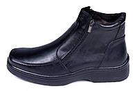Мужские кожаные зимние ботинки Matador clasic два замка, фото 1