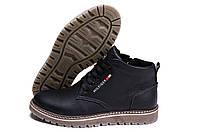 Мужские зимние кожаные ботинки Tommy Hilfiger (реплика)