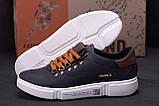 Мужские кожаные кроссовки Polo Blue Trend (реплика), фото 9