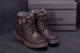 Мужские зимние кожаные ботинки ZG Clasic Brown Style, фото 9